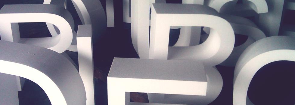 В нашем инструментарии объемные буквы <br> и световые короба